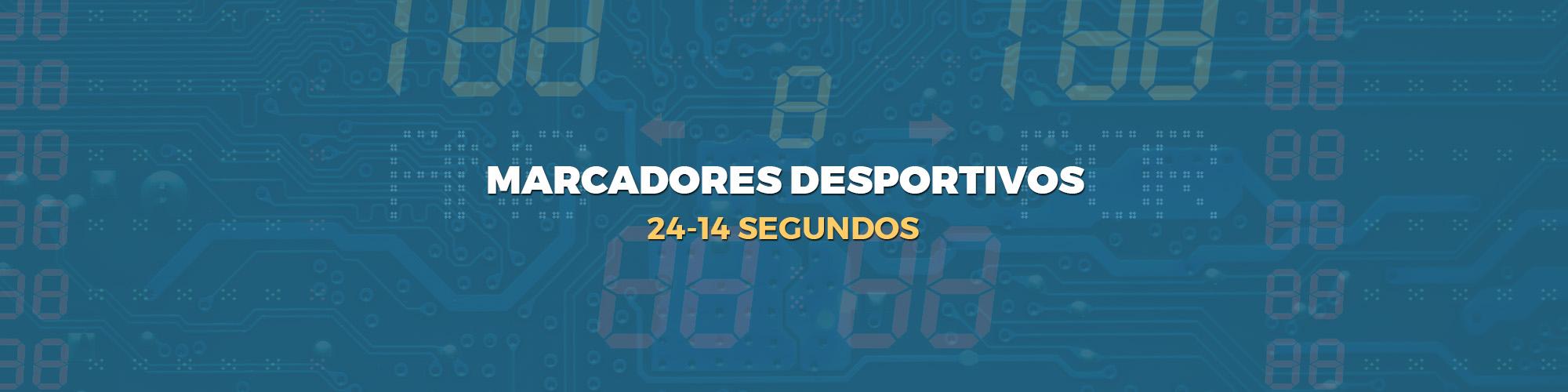 marcadores desportivos - 24-14 Segundos