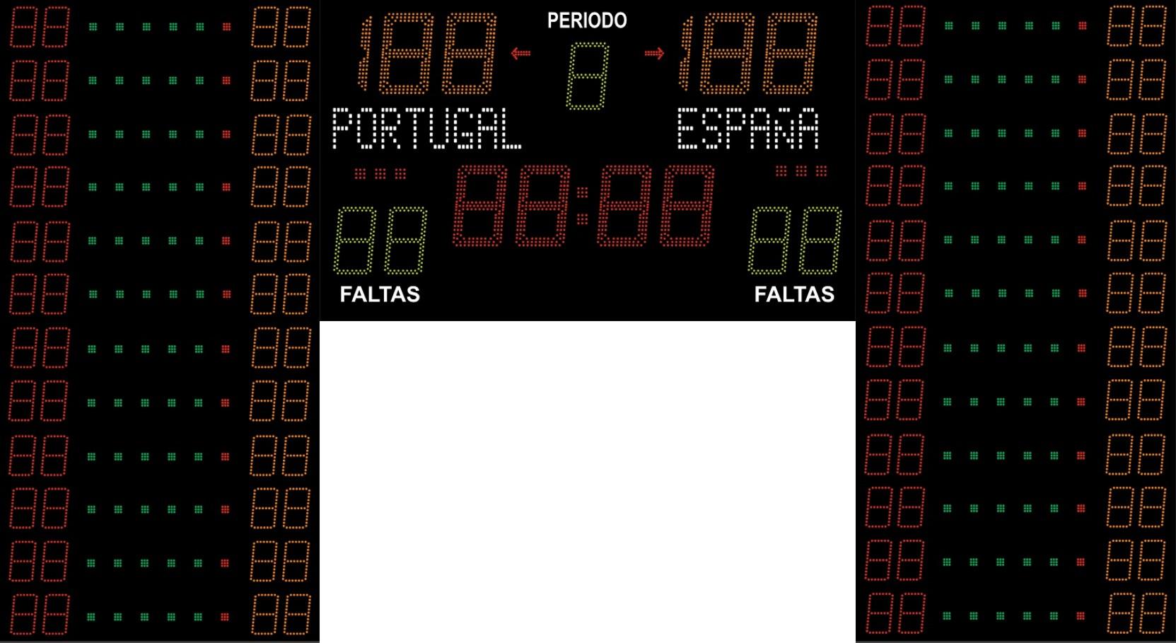Basket FIBA Dorsais e Pontos