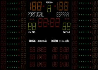 Marcador de Basquetebol FIBA Com Dorsais e Pontos